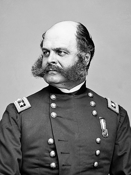 450px-ambrose_everett_burnside 20 Manliest Mustaches and Beards From Facial Hair History