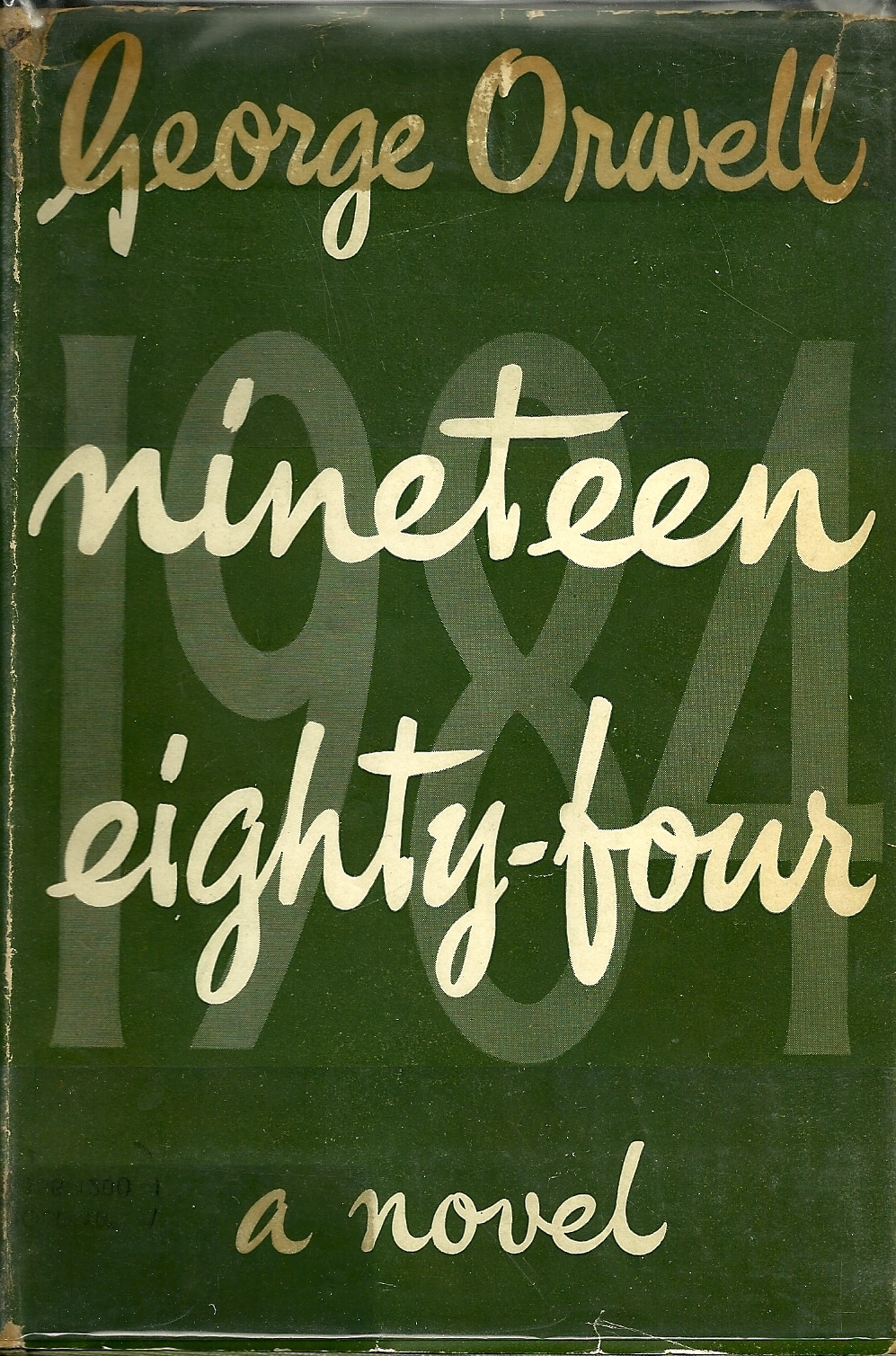 1984 by George Orwell, book cover.