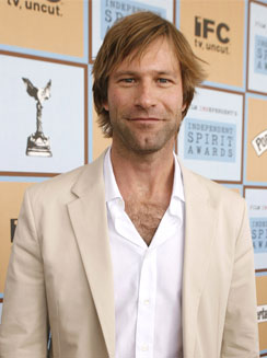 aaron eckhart prominent jaw
