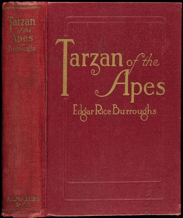Tarzan of the Apes by Edgar Rice Burroughs, book cover.