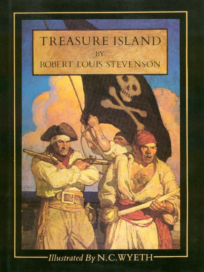 Book Treasure Island by Robert Louis Stevenson.