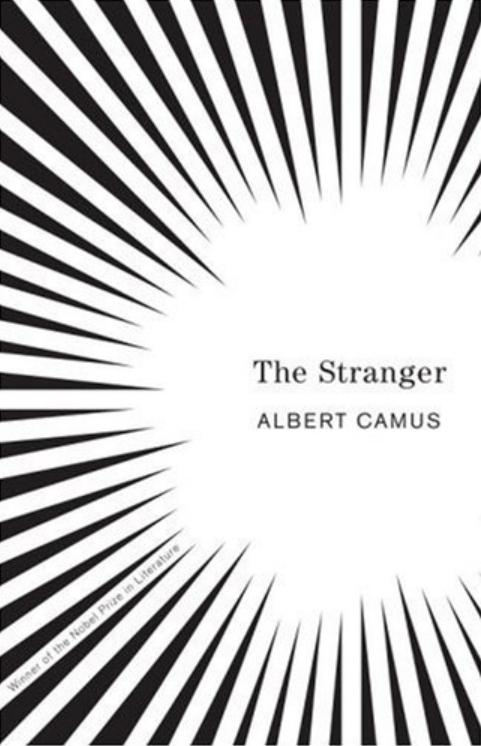The Stranger by Albert Camus, book cover.