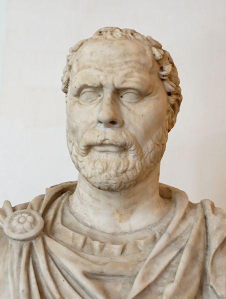 demosthenes marble bust ancient greek