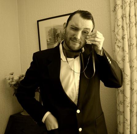 modern gentleman in ascot tie