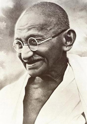 mahatma gandhi portrait smiling gandhi photo