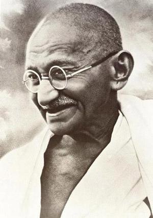 mahatma gandhi portrait smiling gandhi photo