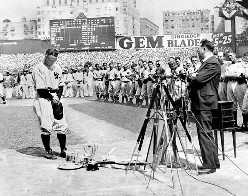 lou gehrig farewell speech yankee stadium luckiest man