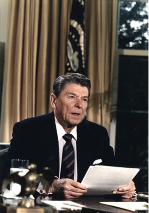 ronald reagan address to nation on challenger explosion 1986