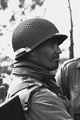 1960s vintage gi soldier portrait side profile