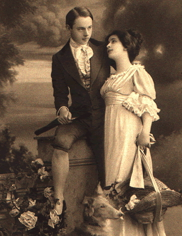 victorian couple 1800s vintage portrait