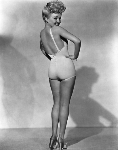 betty grable pin up girl 1950s swimsuit photo