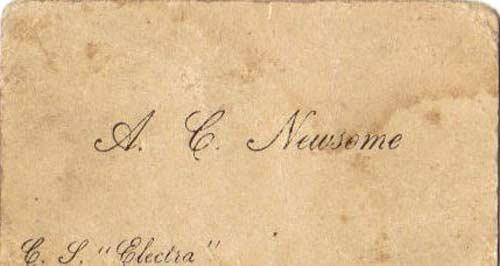 vintage gentlemen's calling card