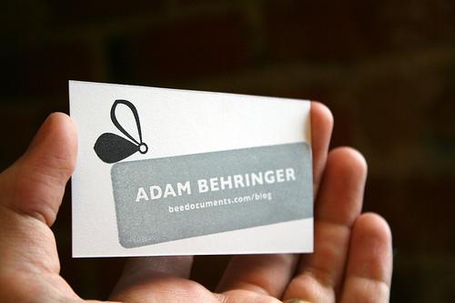 men's calling card modern design