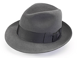 stetson fedora hat gray unique groomsmen gift