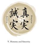 bushido code symbol for honesty and sincerity
