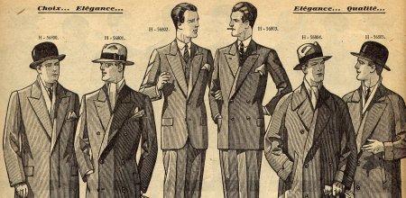 vintage suit ad mid 1900s men suits illustration