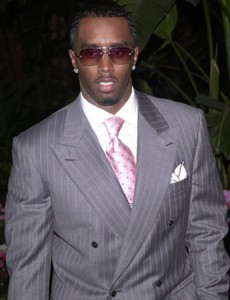 p diddy sean combs style gray suit
