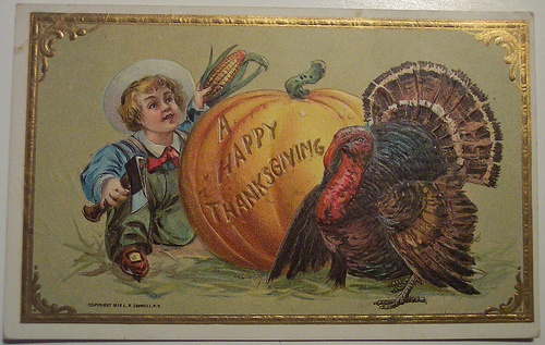 vintage thanksgiving holiday card
