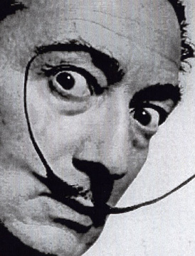 salvador dali up close portrait mustache facial hair