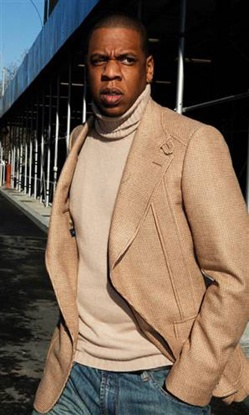 jay z fashion style blazer over sweater