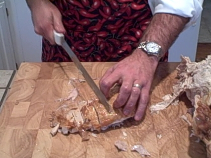 how to carve a turkey slicing the breast meat