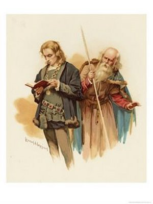 polonius hamlet illustration painting shakespeare play