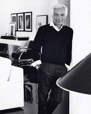 ralph lauren portrait in office black white