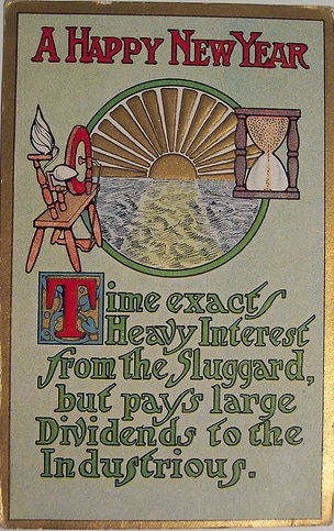 vintage happy new years card