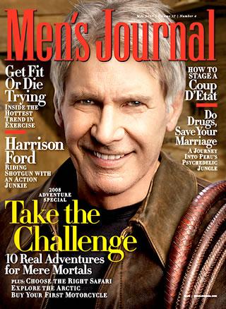 men's journal magazine cover harrison ford