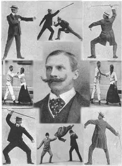 bartitsu martial arts collage early 1900s
