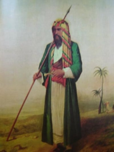 richard francis burton painting middle east robe