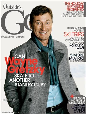 outside's go magazine cover wayne gretzky