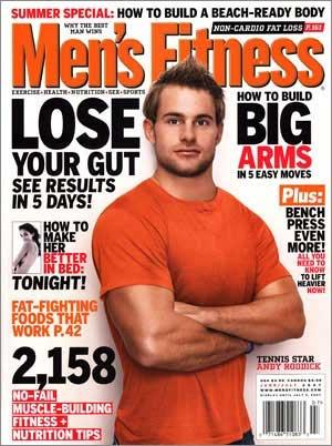 men's fitness magazine cover andy roddick