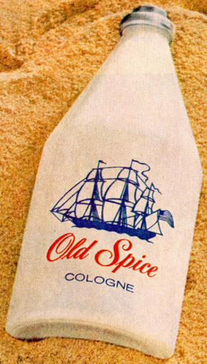 vintage old spice cologne bottle