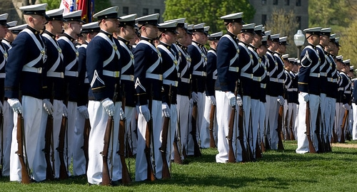 virginia tech corps of cadets in formation