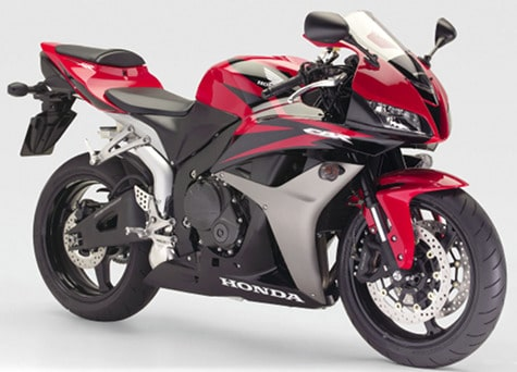 Honda CBR600RR red motorcycle
