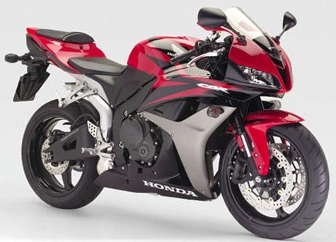Honda CBR600RR red motorcycle