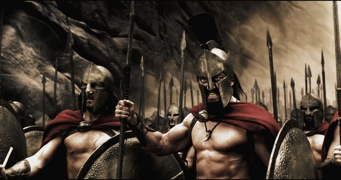 300 movie spartans leonidas preparing for battle