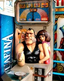 arm wrestling amusement machine coney island arcade game