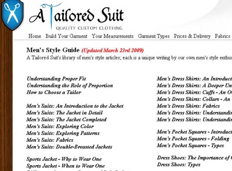 a tailored suit style fashion guide for men website