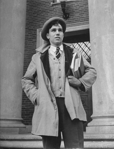 vintage college student coat books 1920s