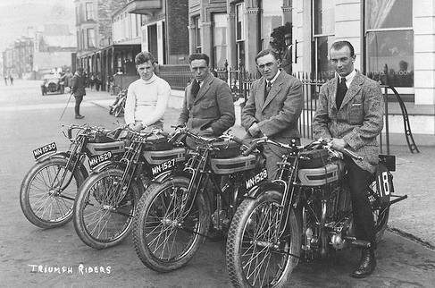 vintage men on motorcycles motorbikes early 1900s