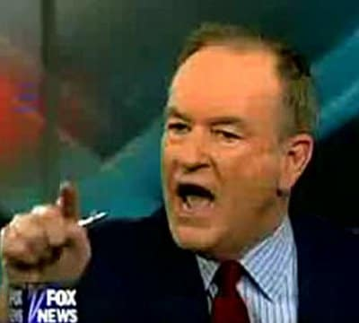 bill o'reilly angry yelling fox news anchorman