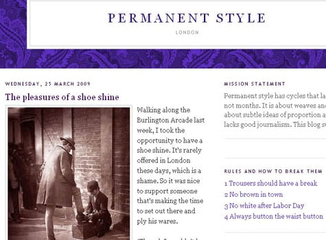 permanent style london fashion style website blog