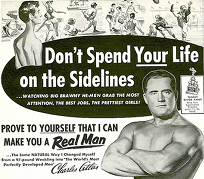charles atlas ad fitness 1920 1930s