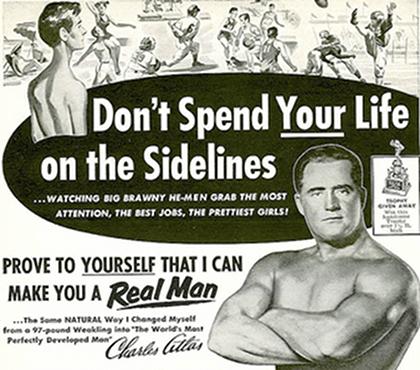 Charles Atlas ad for fitness illustration.