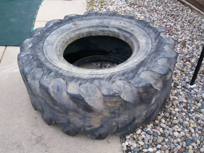 giant tractor tire for diy workout fitness routine