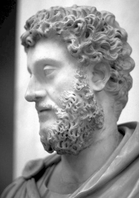 Marcus Aurelius statue portrait.