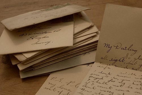 stack of love letters envelopes write a letter