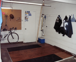 weightlifting platform diy homemade garage gym workout